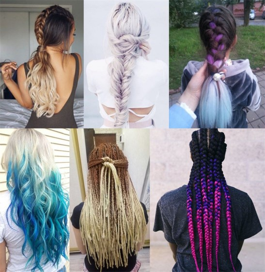 Feilimei-Three-Two-Tone-Colored-Crochet-Braids-Kanekalon-Hair-24-60cm-100g-pc-Synthetic-Ombre-Jumbo-3
